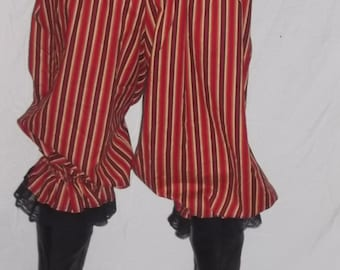 multi color cotton pantaloons with black lace
