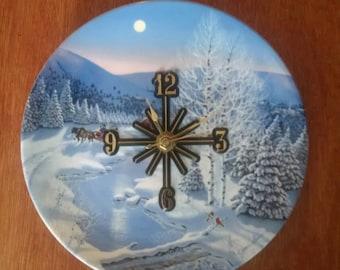 Winter Wonderland, adorable clock plate !