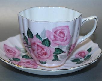 OLD ROYAL Bone China Teacup and Saucer Set.