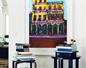 Havana, CUBA No. 6 • Kimikaa Giclée Art Print, Cuban Series, Canvas Print, Cityview Art,