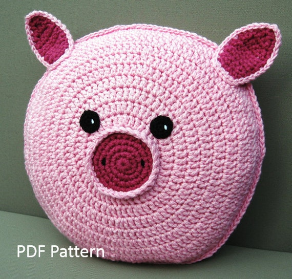 Pig Pillow Cushion CROCHET PATTERN crochet patterns for