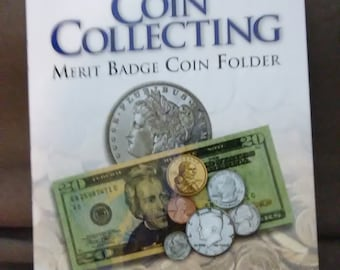 Boy Scout Coin Collecting Merit Badge Coin Folder