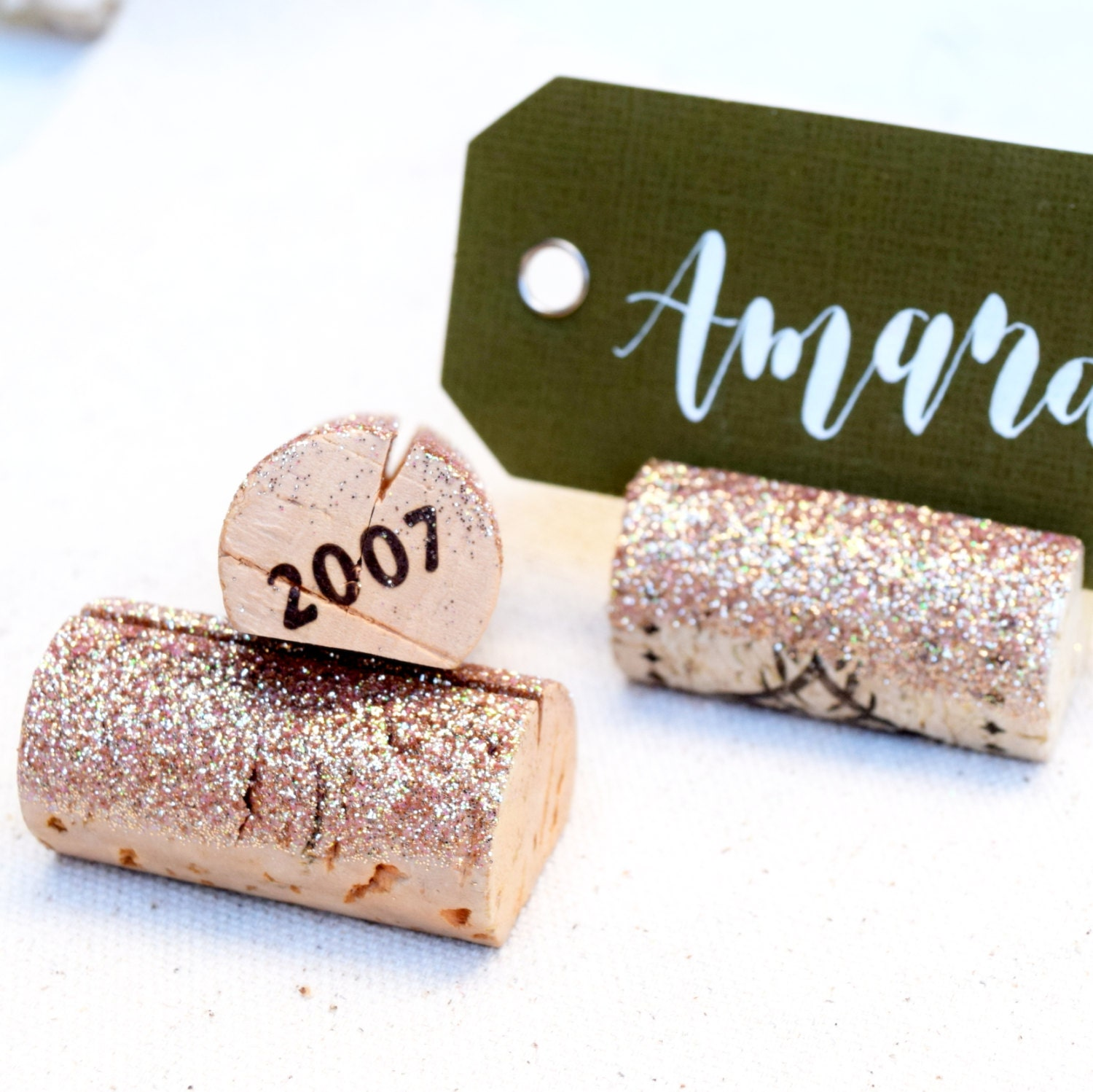 Wedding Table Place Card Ideas: Glitter Place Card Holder Wedding Place Cards Rehearsal Dinner