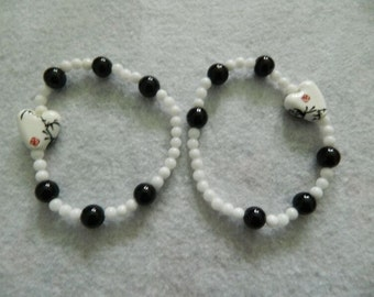 Black and White Bracelets