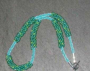 Valencia Kumihimo Beaded Necklace