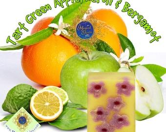 Tart, Green Apple, Neroli, Bergamot, Handmade Soap, Soap, Natural Soap, Botanical Soap, Bar Soap, Body Soap