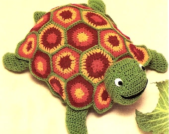 Turtle Toy Children's Crocheted Stuffed Tommy Turtle Toy Pillow  Crocheting Pattern *PDF Instant Download*