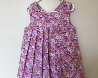 girl floral cotton dress