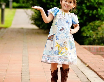 PDF Sewing Pattern - Easy Dress PDF Sewing Pattern for Girls - Flutter, Short, 3/4, Long Sleeves Sewing Pattern PDF