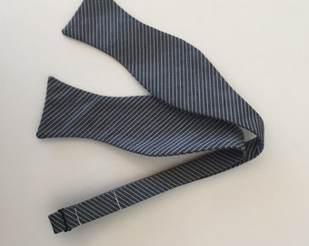 Men and Teen's Charcoal Grey Junior Cord Bow Tie