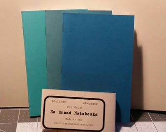 Pocket Sized Dot Grid No Name Brand Notebooks 3-pack