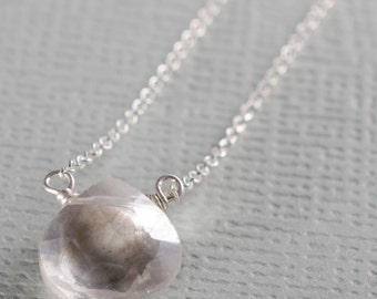 Clear Quartz Little Rock Sterling Silver Necklace