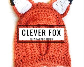 Fox Hood: Fox Costume, Toddler Costume, Hooded Scarf, Cowl, Hood Costume, Montessori, Confidence Hoods, Character, Social Skills, Gift Ideas