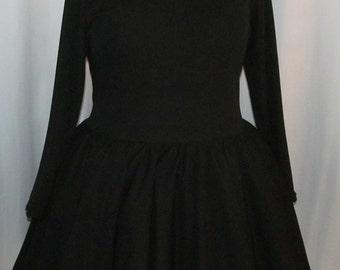 Cute All Black Knit Lolita Cosplay Costume Customizable Color Victorian Steampunk
