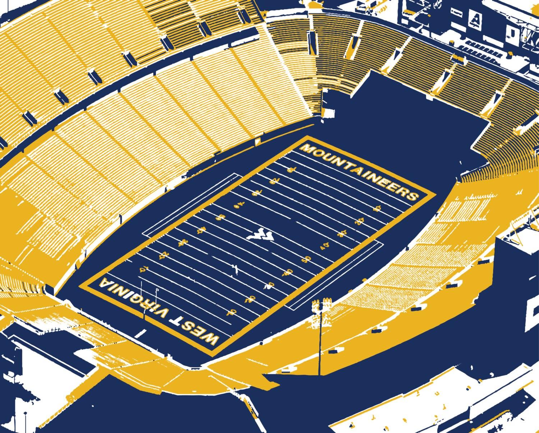 West Virginia University Moutaineer Field Stadium Print