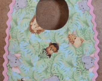 Peek a Boo Jungle Babies bib