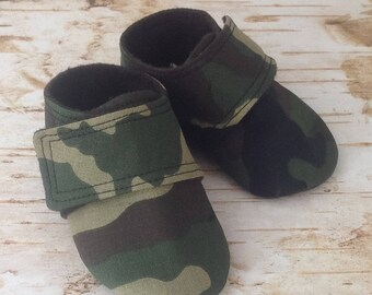 Camo Baby Shoes | Military Baby Shoes | 3-6 Month Only | READY TO SHIP
