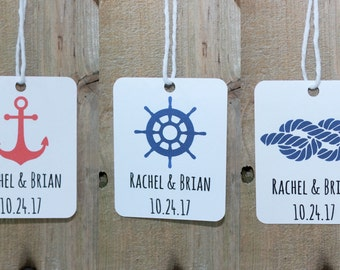Set of 12 Nautical Party Favor Tags