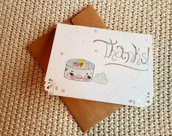 Sushi thank you card
