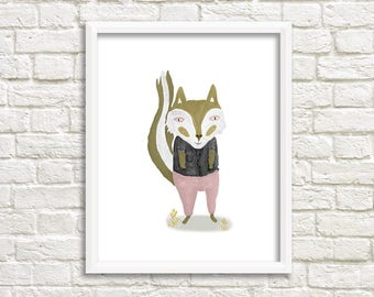 Fox Illustration, Art print