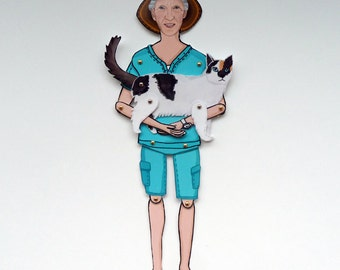 A PERSON | Personalized Paper Doll | MINI-YOU dolls | Custom paper doll | paper toy