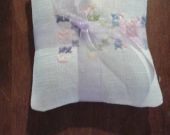 Embroidered Lavender Sachet set of 2