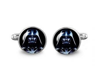 Darth Vader Cuff Links Star Wars Cuff Links 16mm Cufflinks Gift for Men Groomsmen Geeky Cuff links Fandom Jewelry