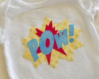 Superhero Comic Bodysuit- Pow! or Bam!