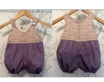 Made to order: Babies jumpsuit in any plain fabric and liberty print in stock