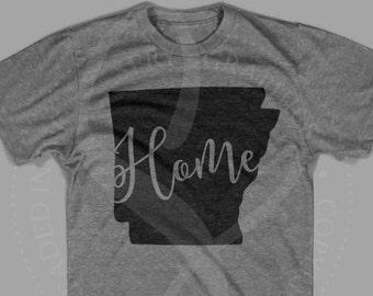 Spry Graphics Script Arkansas Home State Shirt