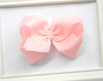 Light Pink Boutique Hair Bow - Light Pink Hair Bow - Large Boutique Bow