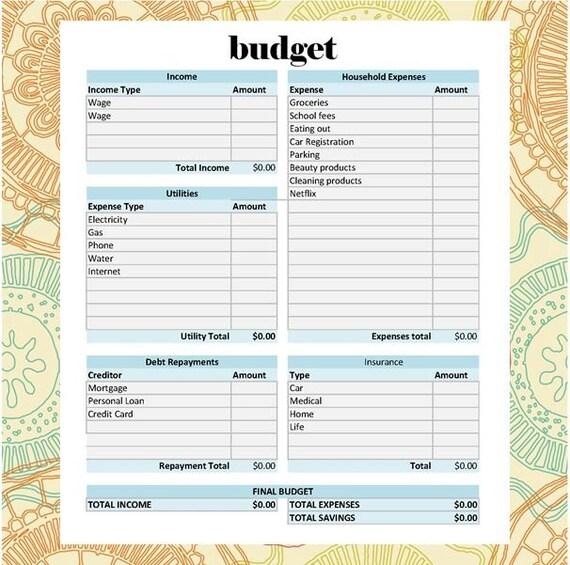 Die ultimative Budget-Tabelle selbst die Berechnung