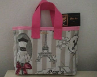 PARIS pink hand bag