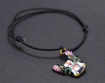 dog black cord bracelet