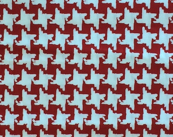 Cotton Fabric / Red Cotton Fabric / Red and White Fabric / Red and White Cotton Fabric / Red and White Vintage Fabric / Red and White