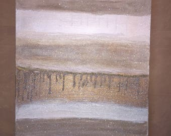 Original Neutral Abstract Painting