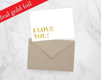 I Love You Gold Foil