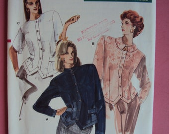 Very Easy Vogue 7017 semi-fitted blouse / top-size 12-14-16 uncut