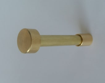 Brass Wall Hook - Flat Top Brass Wall Hook -Modern Wall Hook - Handmade Hardware