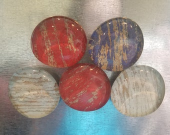Glass Magnets - Patriotic Red, White, Blue