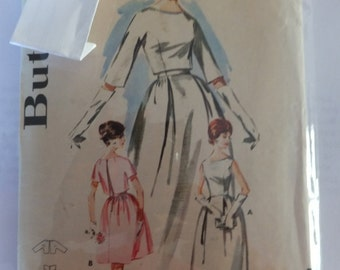 Vintage Butterick 2570  Misses Bell Skirted Bridal Gown and Jacket