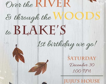 Woodland Birthday Invitation 2