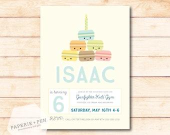 Macaron Birthday Invitation or Baby Shower, 2-3 Day Turnaround!