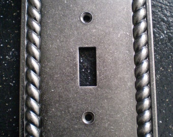 Pewter Single Toggle Light Switch Plate