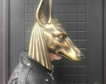 Golden Mask Anubis, Masquerade Mask, Death Mask, Black Mask, Cosplay Mask, Animal Masquerade Mask, Carnival Mask, Halloween Mask, Masks