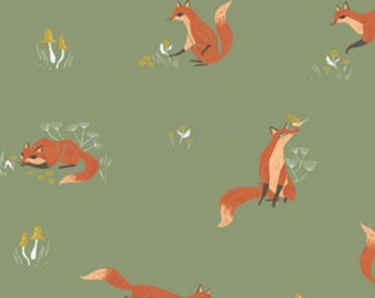 Dear Stella - Camp Wander Collection - Fox in Aloe