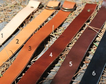 "Leather strap for FUROSHIKIS, different colors. Length from 55 to 60 cm (21.65 ""to 23.62"")"