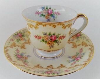 Sale. Vintage  Noritake Demitasse or Espresso Cup, Dovier Pattern, Vintage Noritake Demitasse, 1933, Excellent, Gift for Her
