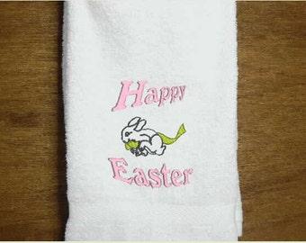 Easter Hand Towel, kitchen towels, bath towel, embroidered towels, kitchen linens, decorative towels, bathroom towel,