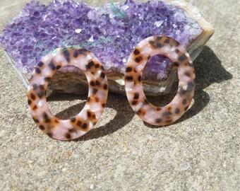 Geometric Leopard Spots Acrylic Earrings
